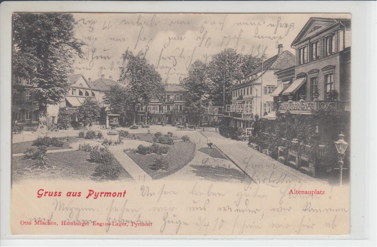 ak gruss aus pyrmont altenauplatz bad pyrmont 1903 ebay